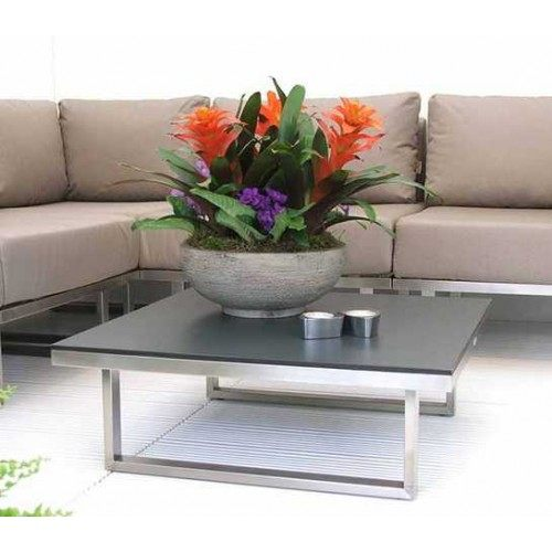 barlow tyrie mercury stainless steel square low coffee table 30