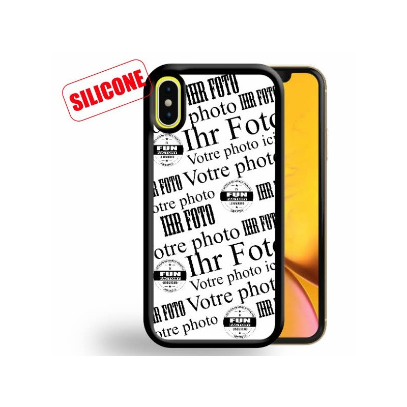 iphone xr coque en silicone personnalisee