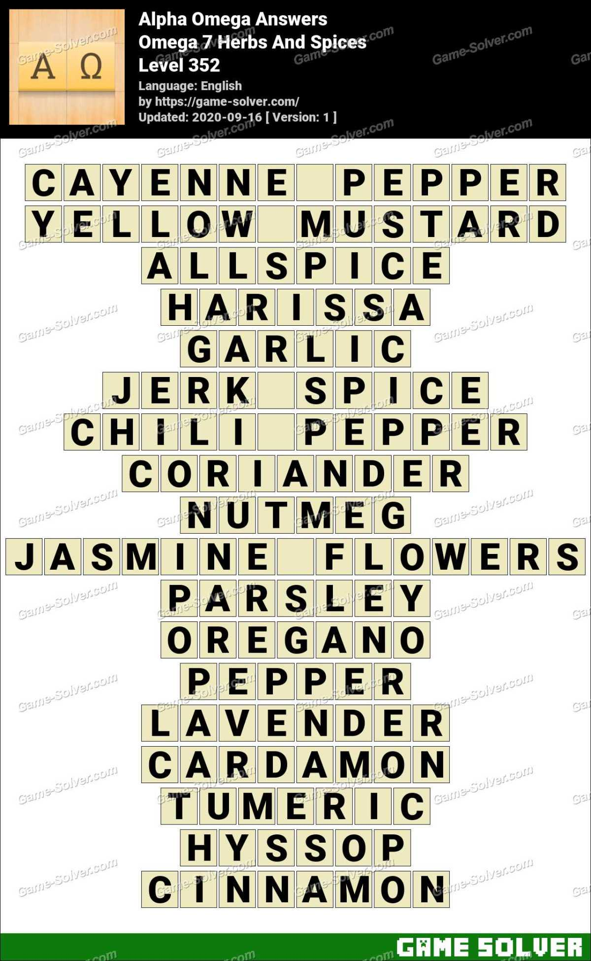 Alpha Omega Omega 7 Herbs And Spices