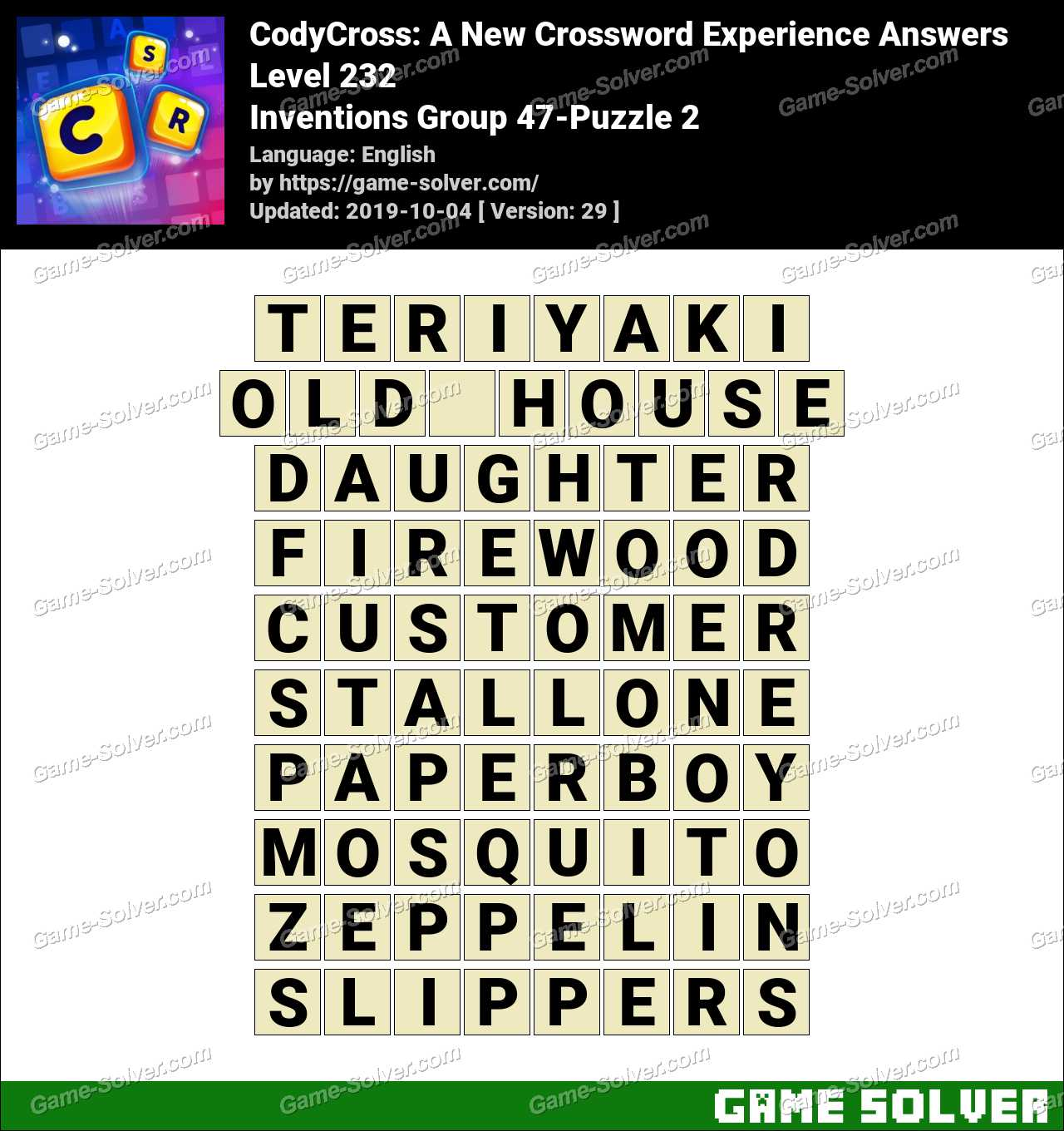 CodyCross Inventions Group 47-Puzzle 2 Answers