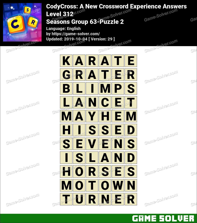 CodyCross Seasons Group 63-Puzzle 2 Answers