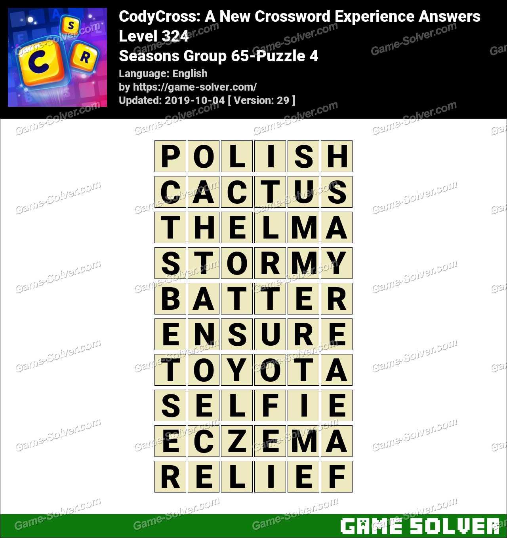 CodyCross Seasons Group 65-Puzzle 4 Answers