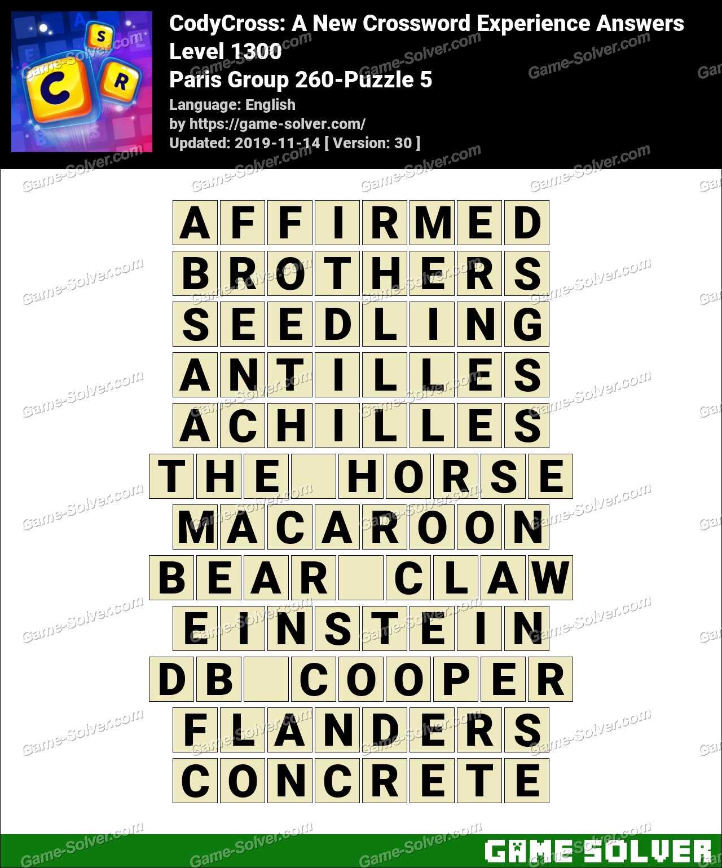 CodyCross Paris Group 260-Puzzle 5 Answers