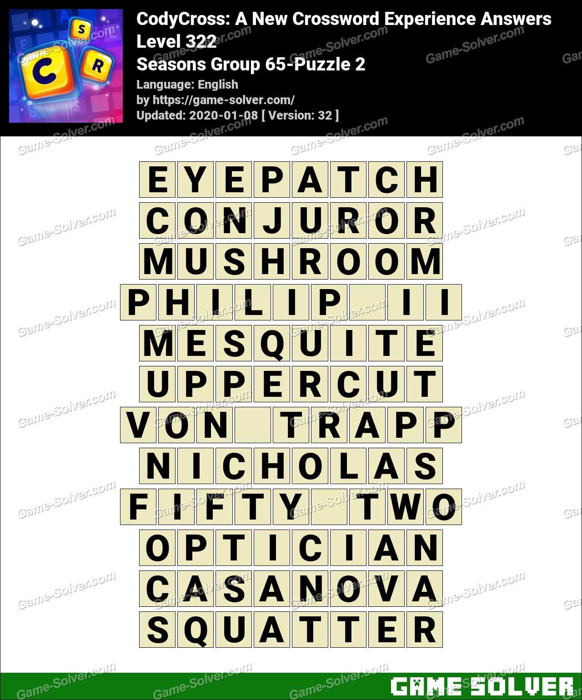 CodyCross Seasons Group 65-Puzzle 2 Answers