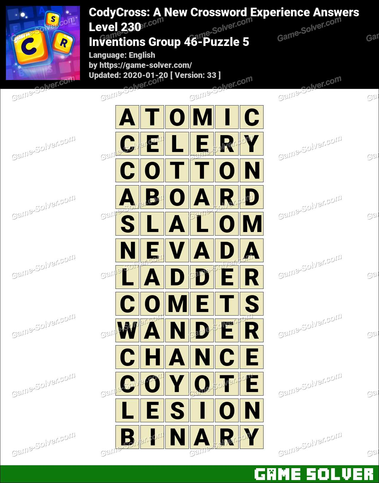 CodyCross Inventions Group 46-Puzzle 5 Answers