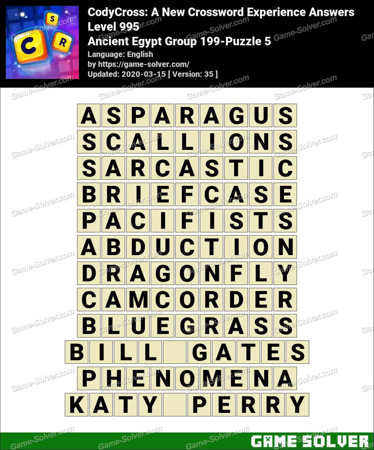 CodyCross Ancient Egypt Group 199-Puzzle 5 Answers
