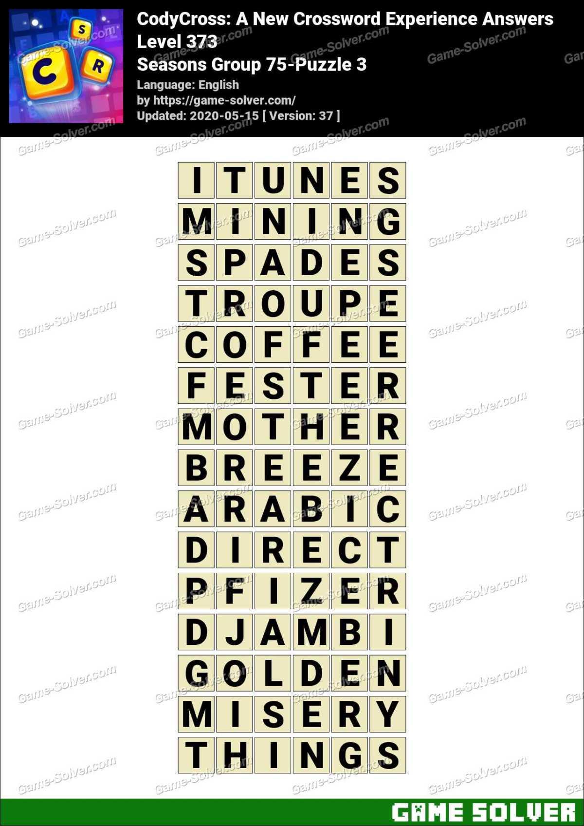 CodyCross Seasons Group 75-Puzzle 3 Answers