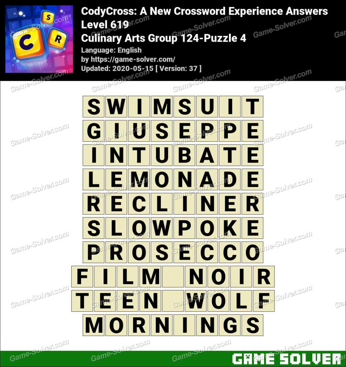 CodyCross Culinary Arts Group 124-Puzzle 4 Answers