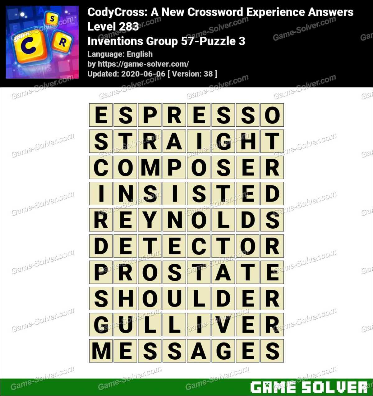 CodyCross Inventions Group 57-Puzzle 3 Answers