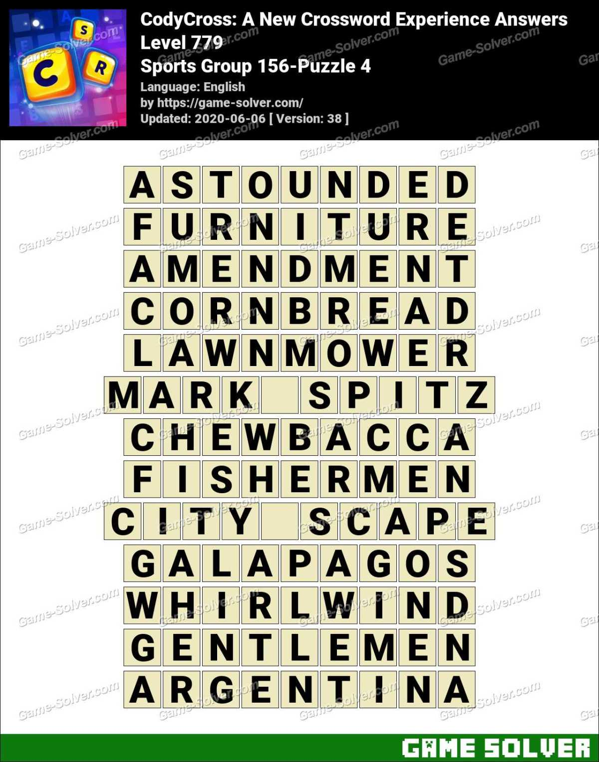 CodyCross Sports Group 156-Puzzle 4 Answers