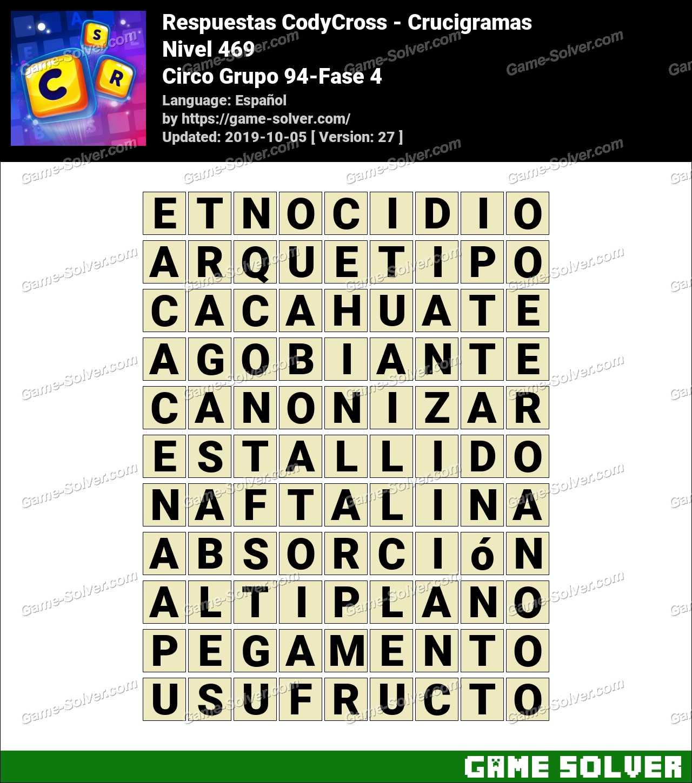 Respuestas CodyCross Circo Grupo 94-Fase 4