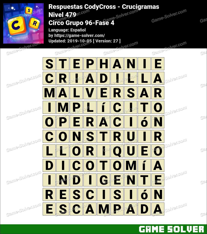 Respuestas CodyCross Circo Grupo 96-Fase 4