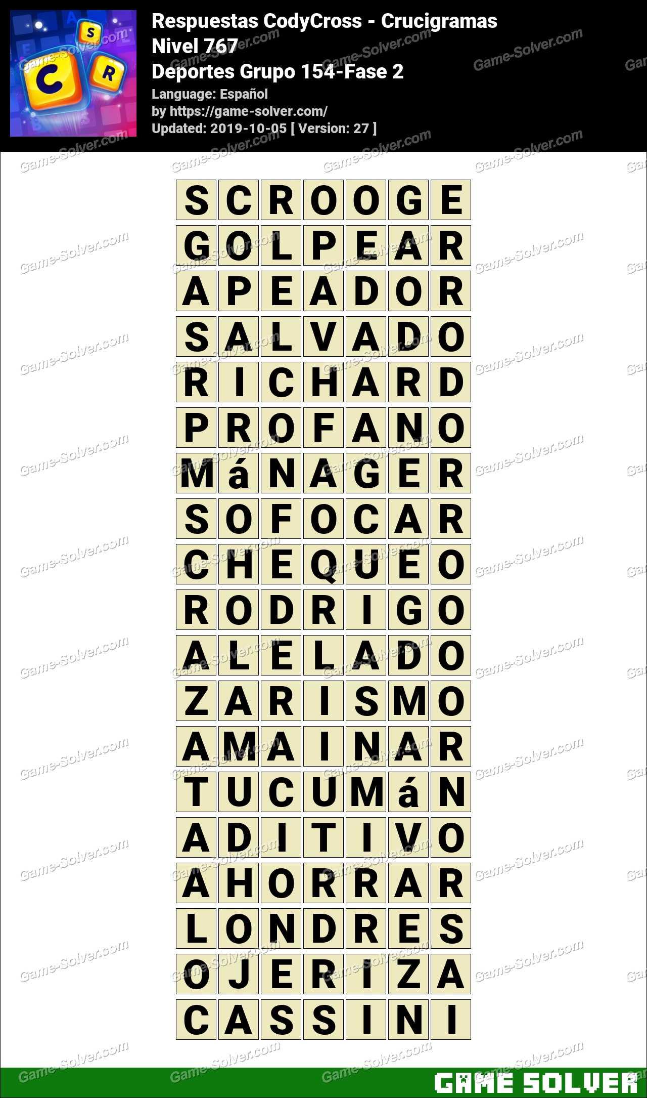 Respuestas CodyCross Deportes Grupo 154-Fase 2