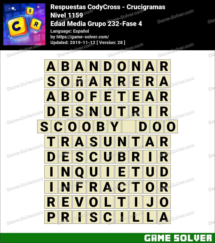 Respuestas CodyCross Edad Media Grupo 232-Fase 4