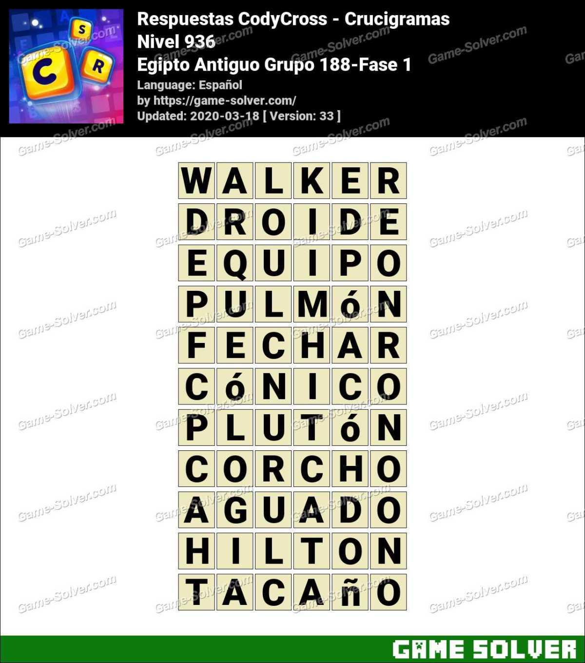 Respuestas CodyCross Egipto Antiguo Grupo 188-Fase 1