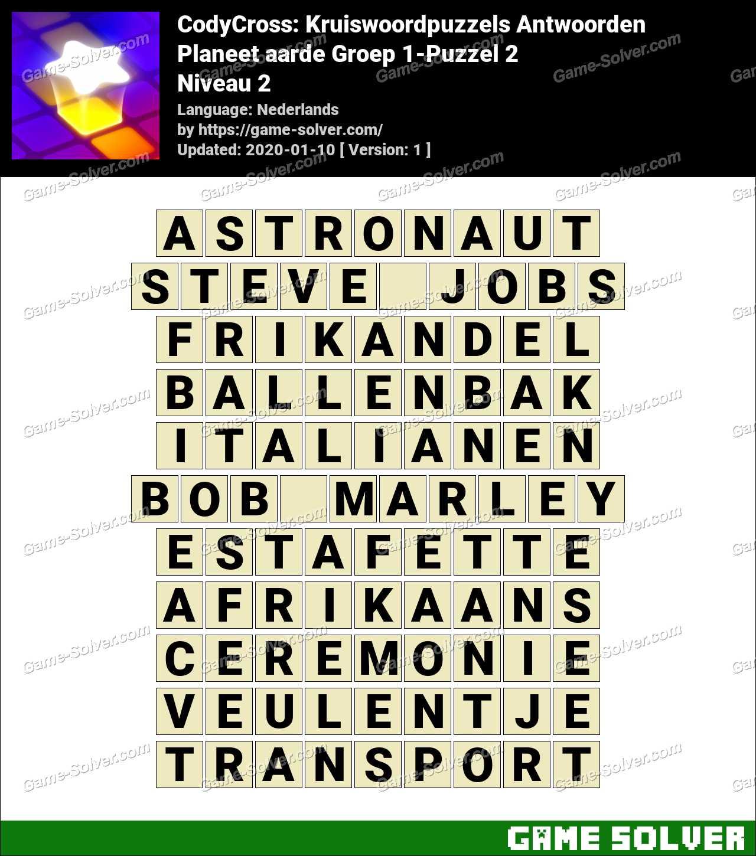 CodyCross Planeet aarde Groep 1-Puzzel 2 Antwoorden