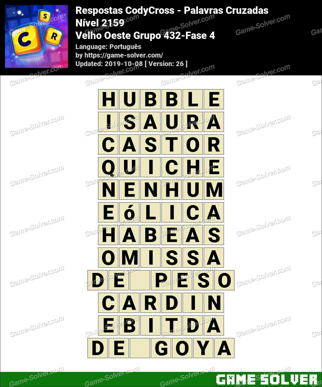 Respostas CodyCross Velho Oeste Grupo 432-Fase 4