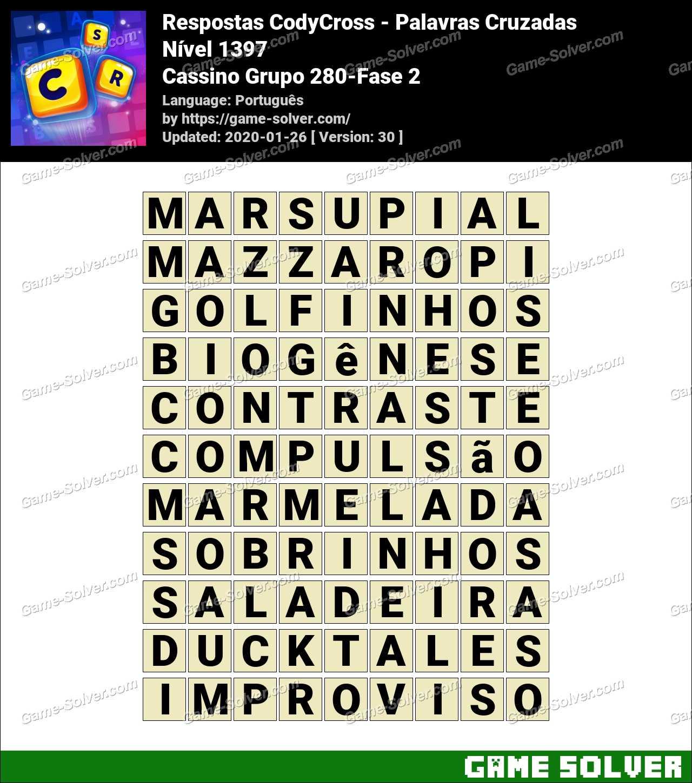 Respostas CodyCross Cassino Grupo 280-Fase 2
