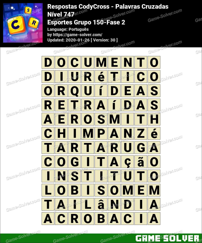 Respostas CodyCross Esportes Grupo 150-Fase 2