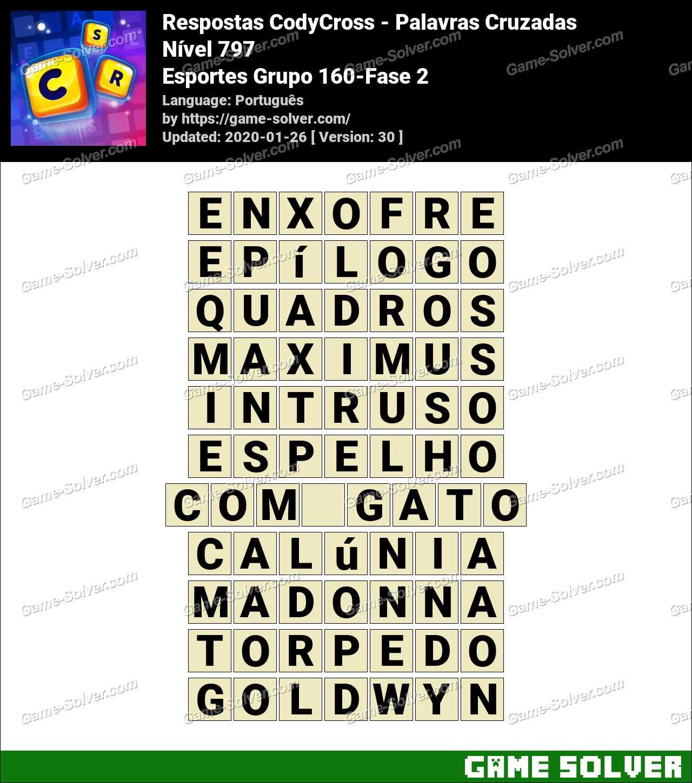 Respostas CodyCross Esportes Grupo 160-Fase 2