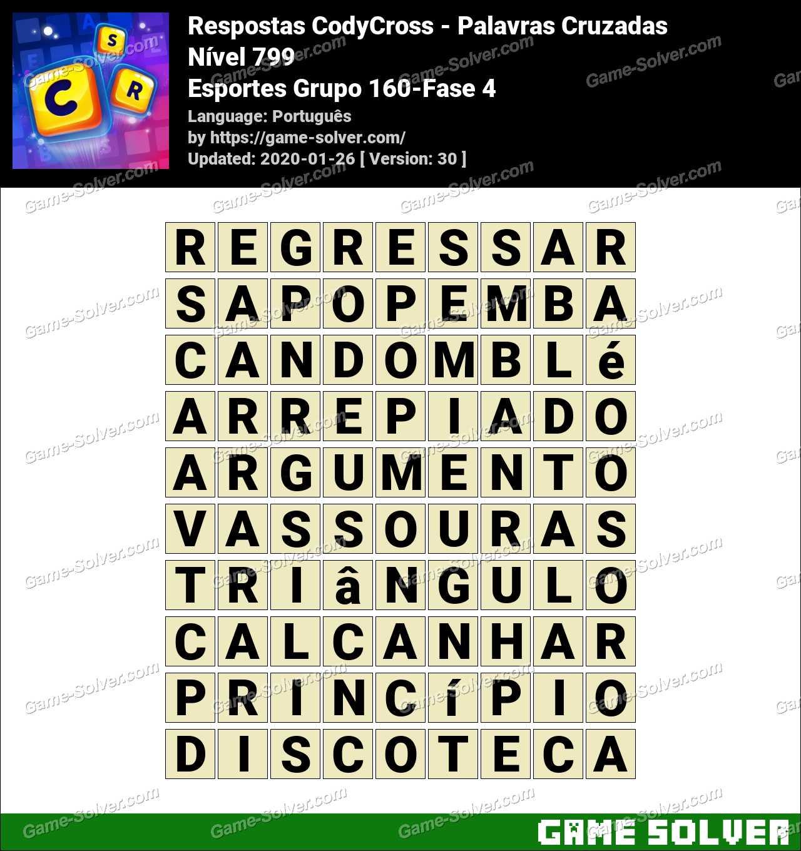 Respostas CodyCross Esportes Grupo 160-Fase 4