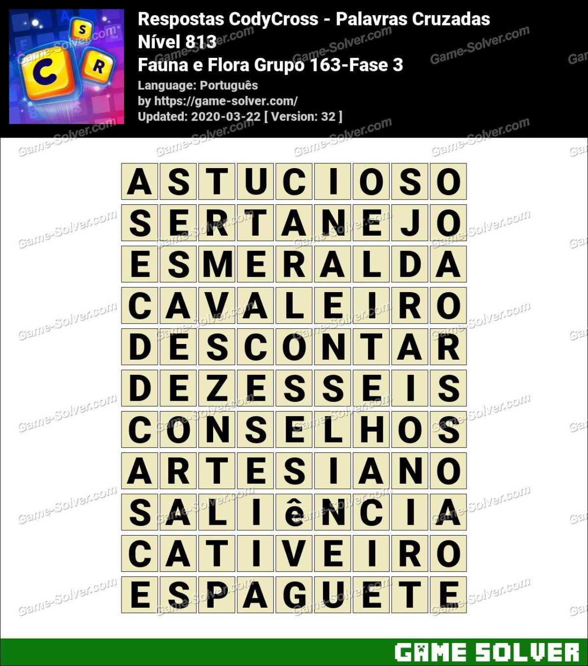 Respostas CodyCross Fauna e Flora Grupo 163-Fase 3