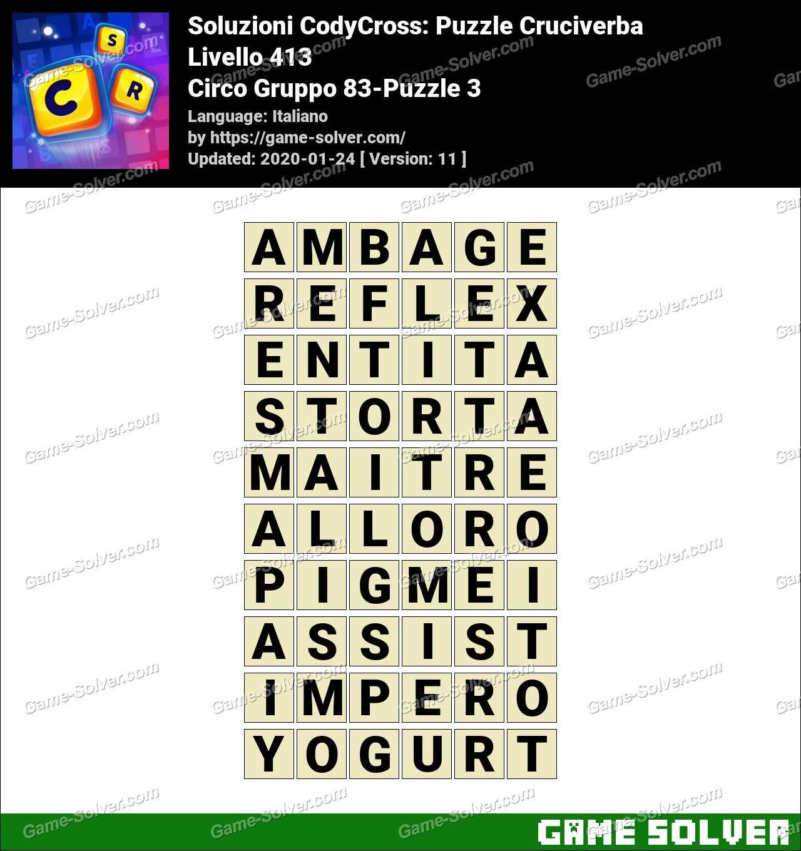 Soluzioni CodyCross Circo Gruppo 83-Puzzle 3
