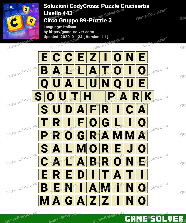 Soluzioni CodyCross Circo Gruppo 89-Puzzle 3