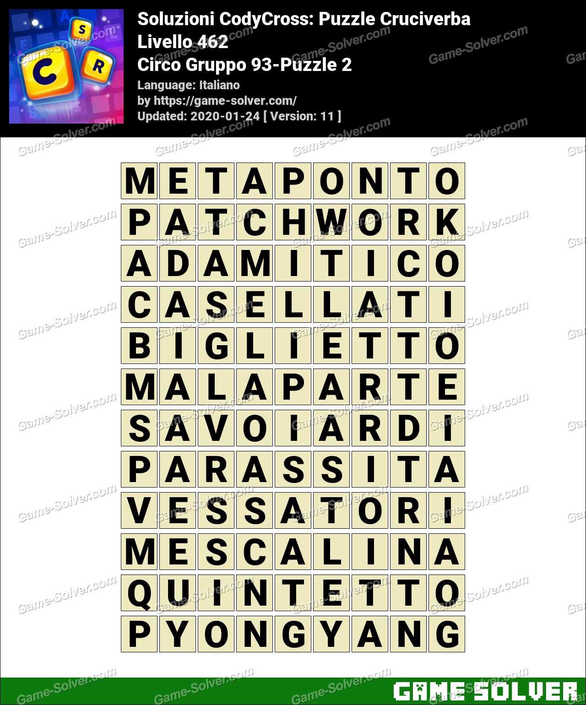 Soluzioni CodyCross Circo Gruppo 93-Puzzle 2