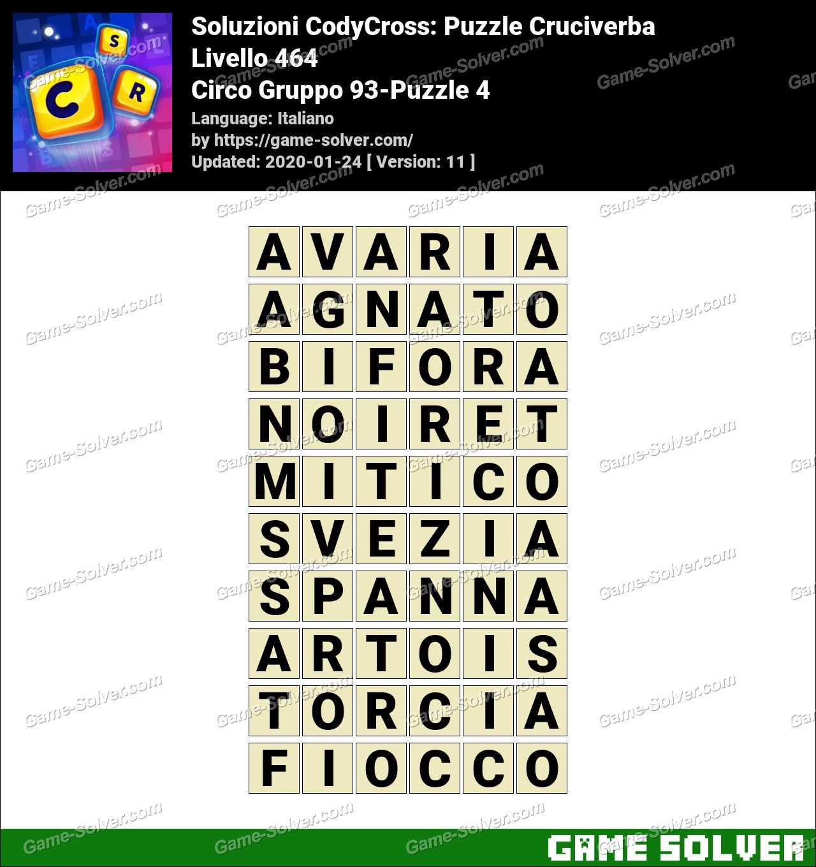 Soluzioni CodyCross Circo Gruppo 93-Puzzle 4