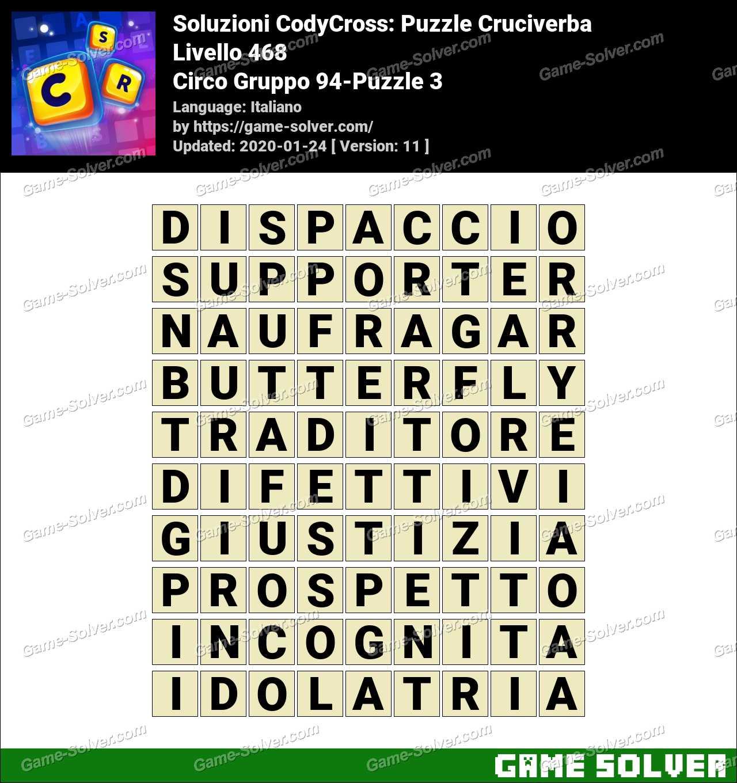 Soluzioni CodyCross Circo Gruppo 94-Puzzle 3