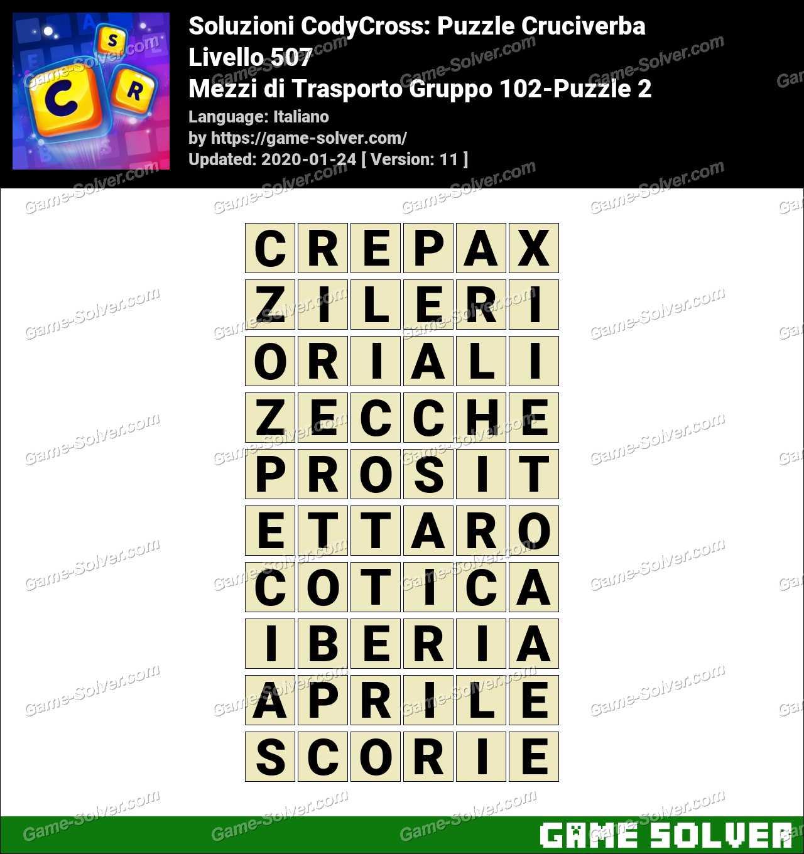 Soluzioni CodyCross Mezzi di Trasporto Gruppo 102-Puzzle 2