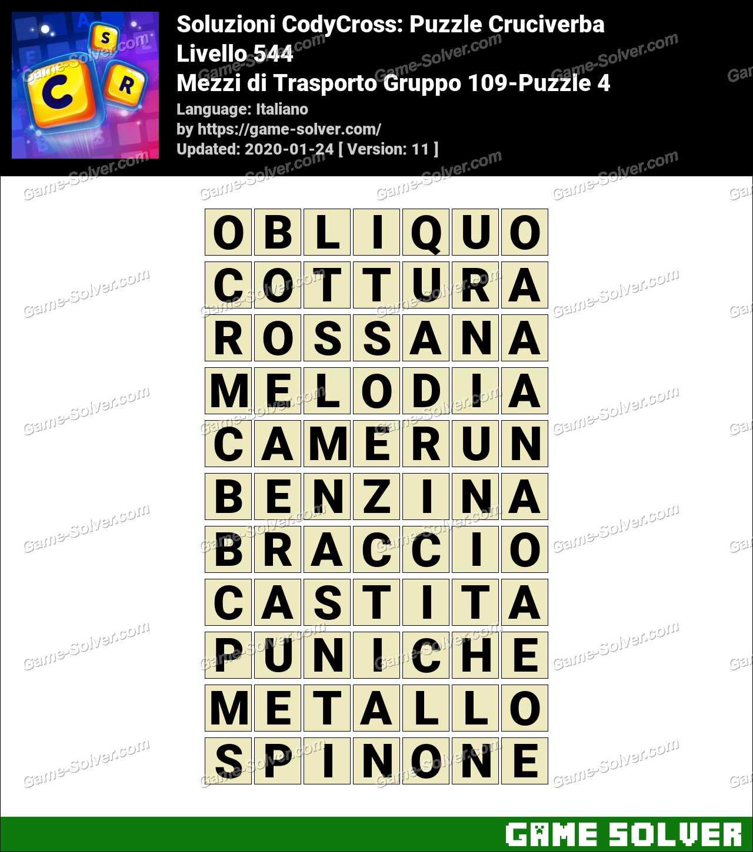 Soluzioni CodyCross Mezzi di Trasporto Gruppo 109-Puzzle 4