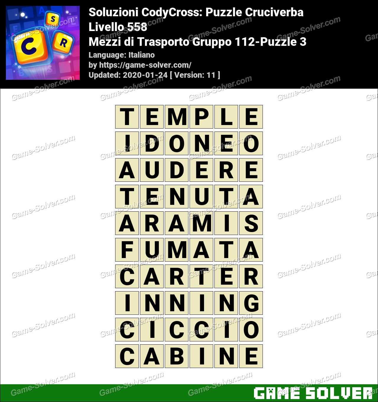 Soluzioni CodyCross Mezzi di Trasporto Gruppo 112-Puzzle 3