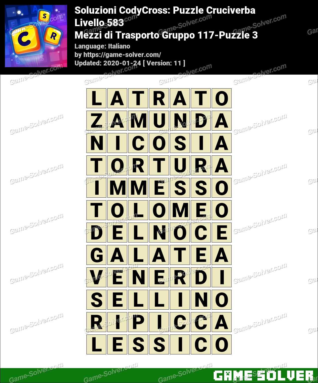 Soluzioni CodyCross Mezzi di Trasporto Gruppo 117-Puzzle 3