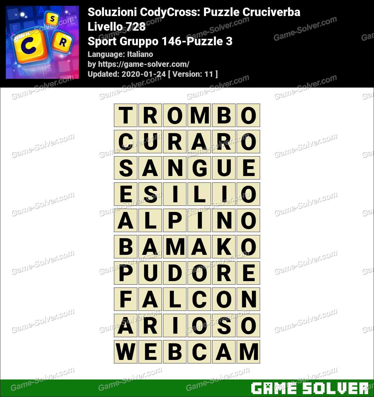 Soluzioni CodyCross Sport Gruppo 146-Puzzle 3