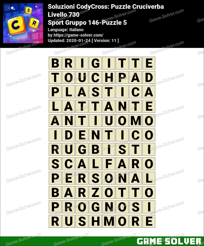 Soluzioni CodyCross Sport Gruppo 146-Puzzle 5