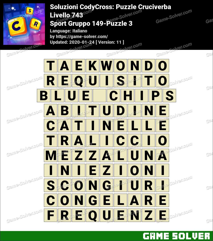Soluzioni CodyCross Sport Gruppo 149-Puzzle 3