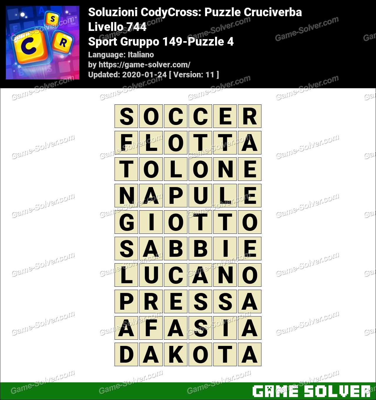 Soluzioni CodyCross Sport Gruppo 149-Puzzle 4