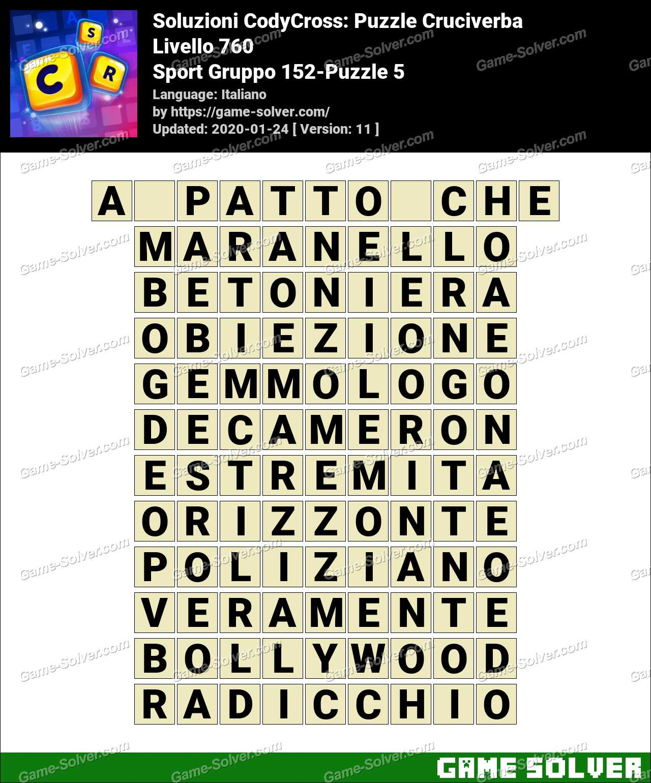 Soluzioni CodyCross Sport Gruppo 152-Puzzle 5