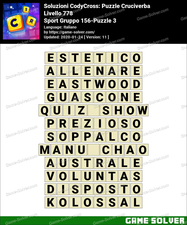 Soluzioni CodyCross Sport Gruppo 156-Puzzle 3