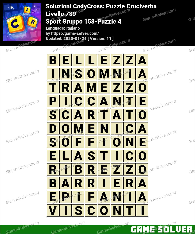 Soluzioni CodyCross Sport Gruppo 158-Puzzle 4