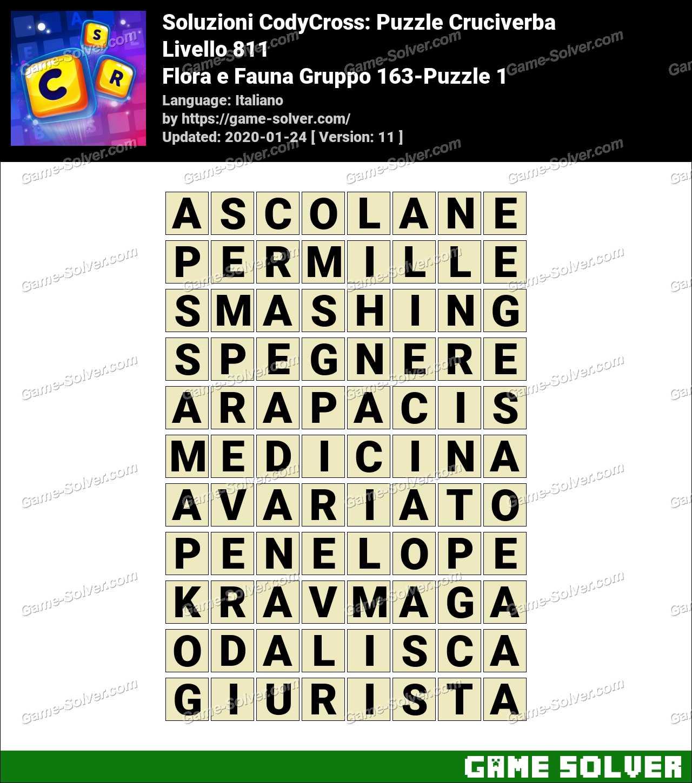Soluzioni CodyCross Flora e Fauna Gruppo 163-Puzzle 1