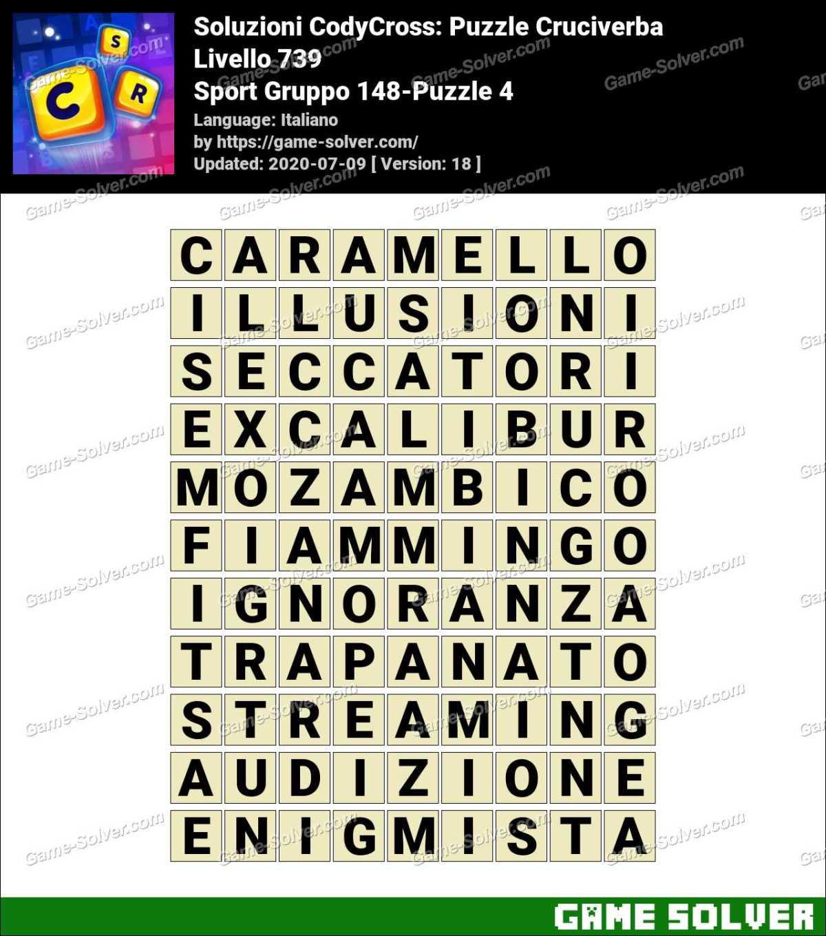 Soluzioni CodyCross Sport Gruppo 148-Puzzle 4