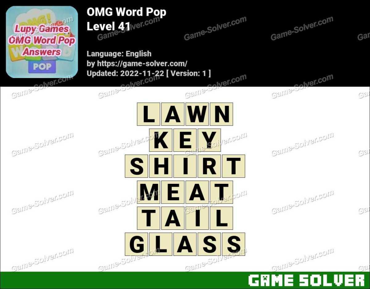 OMG Word Pop Level 41 Answers
