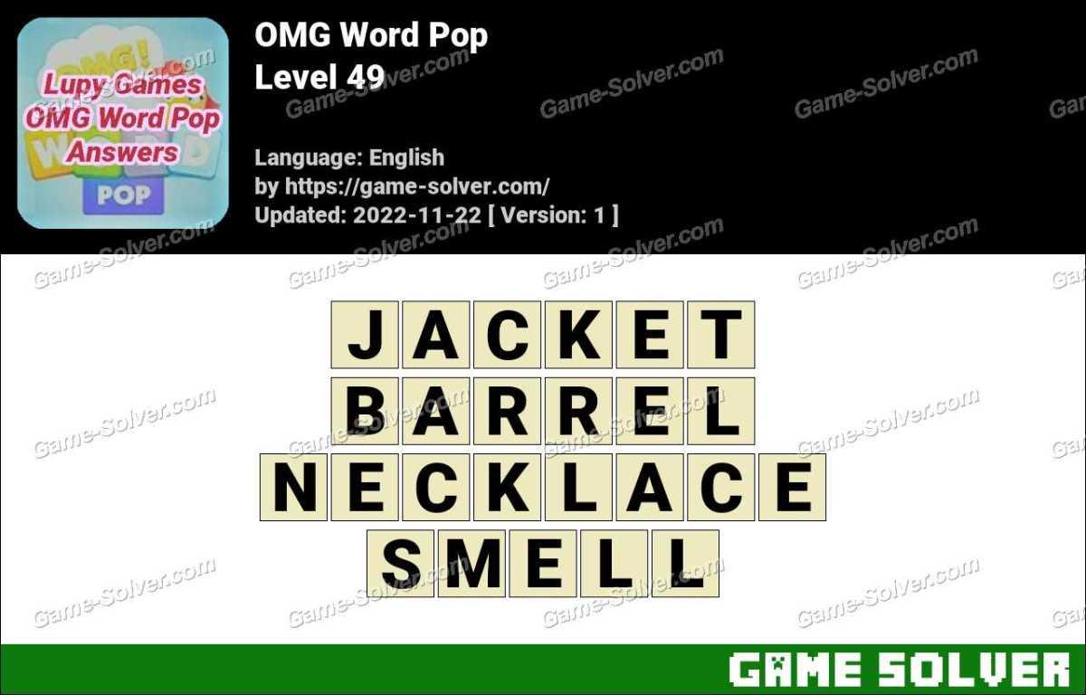 OMG Word Pop Level 49 Answers