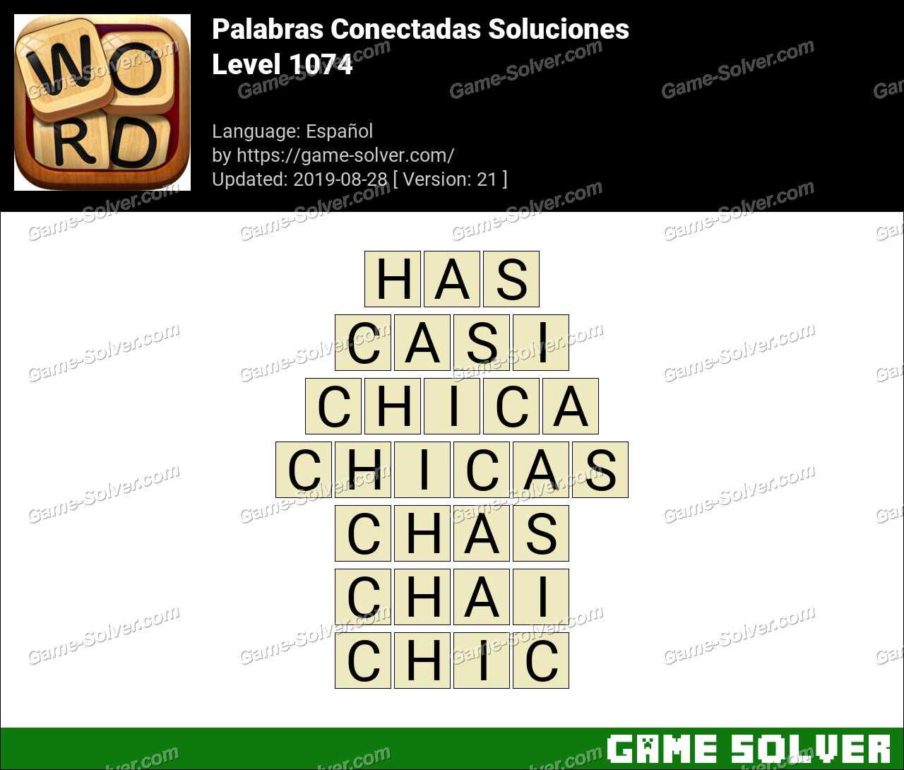 Palabras Conectadas Nivel 1074 Soluciones