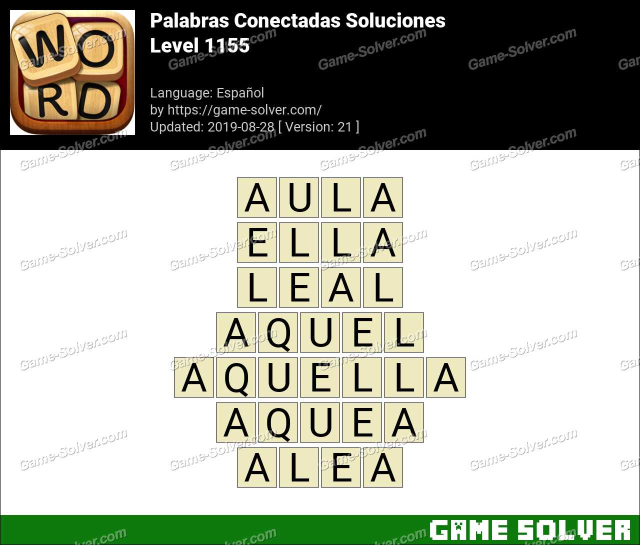 Palabras Conectadas Nivel 1155 Soluciones