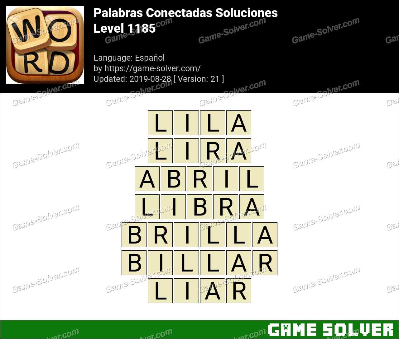 Palabras Conectadas Nivel 1185 Soluciones