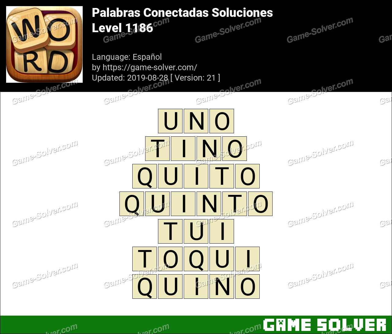 Palabras Conectadas Nivel 1186 Soluciones